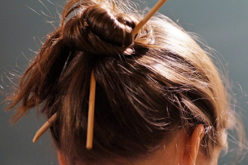 Tucked-Up And Pinned Hairstyles
